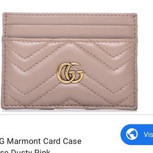 Gucci GG Marmont dust pink card holder